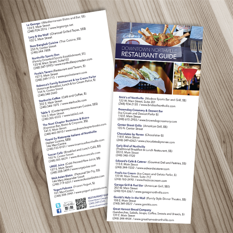 4x9 rack cards 2 sided uncoated